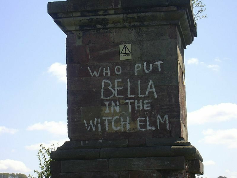 Who put bella in the witch elm? on the Wychbury Obelisk