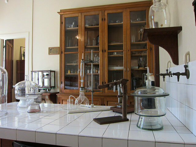 Marie Curie's Laboratory  at the Musee Curie