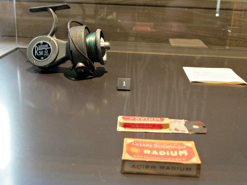 Radium products at the Musee Curie in Paris