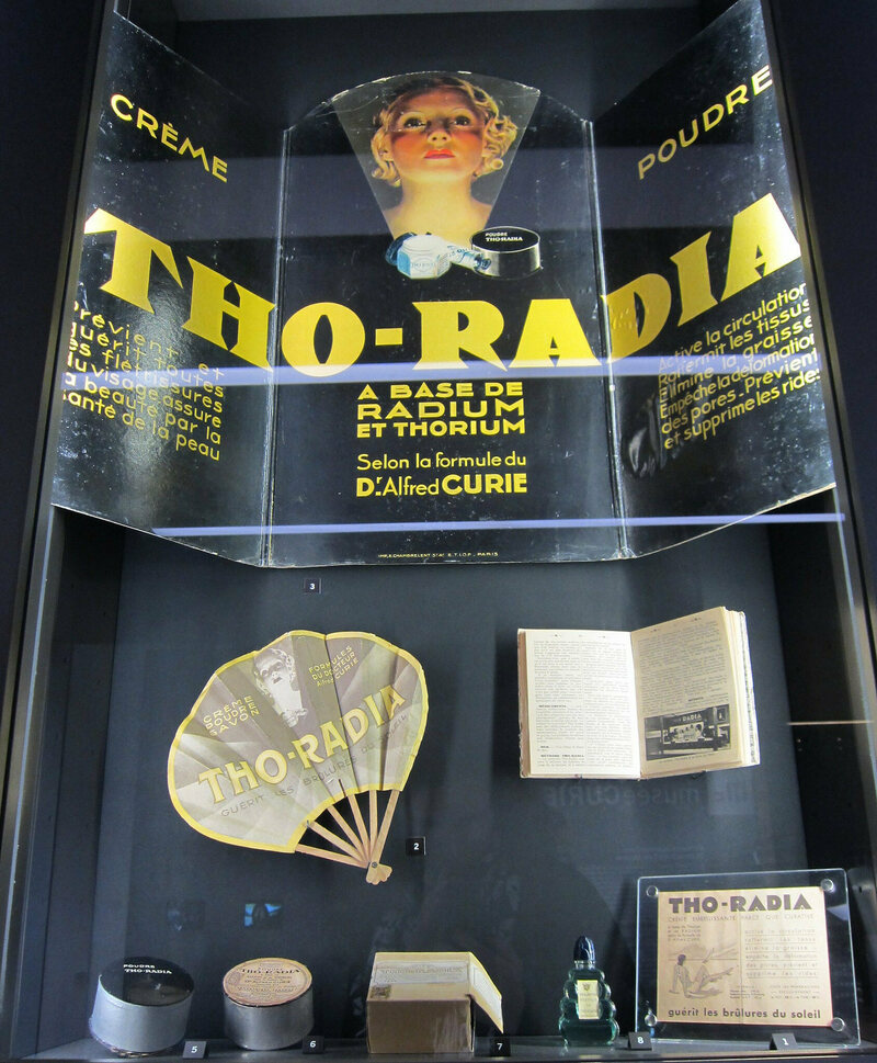 Radium cosmetics at the Musee Curie in Paris