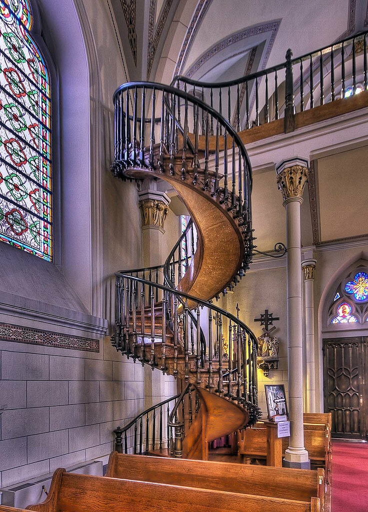The Miraculous Staircase At Loretto Chapel (photograph By Michael Martin)