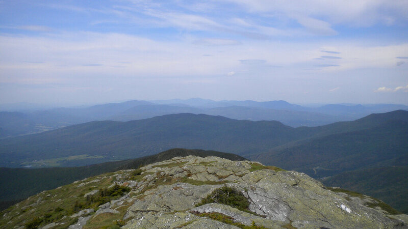 View from Mount Mansfield, highest point in Vermont.