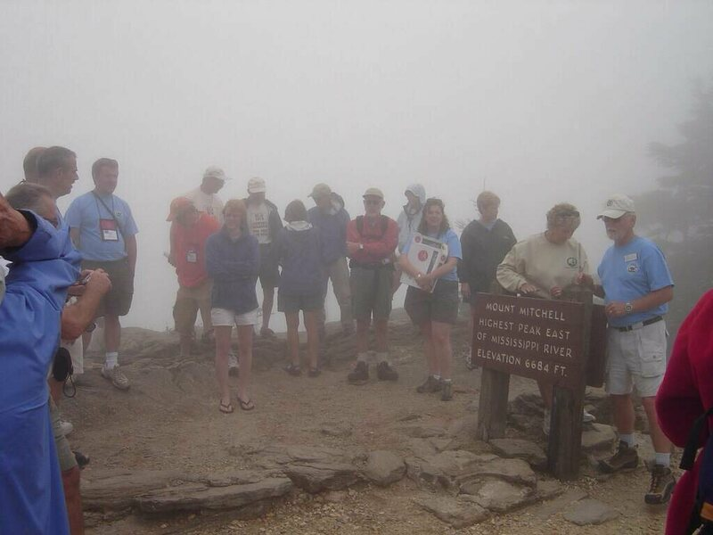 Highpointer convention on Mount Mitchell, North Carolina, in 2006.