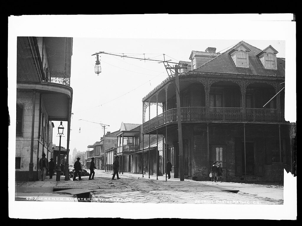 The French Quarter, later in the 19th century.