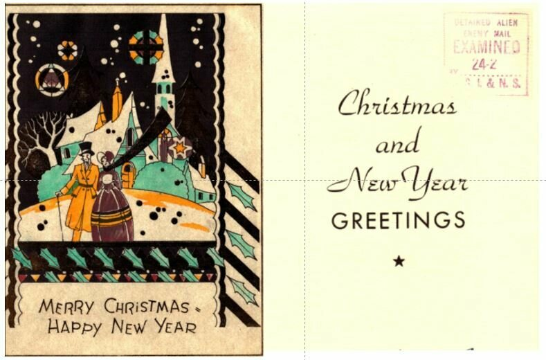A Christmas card, and potentially a silk screen shop worker's introductory project.