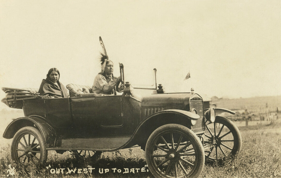 One of many vehicles owned by members of the Osage Nation.