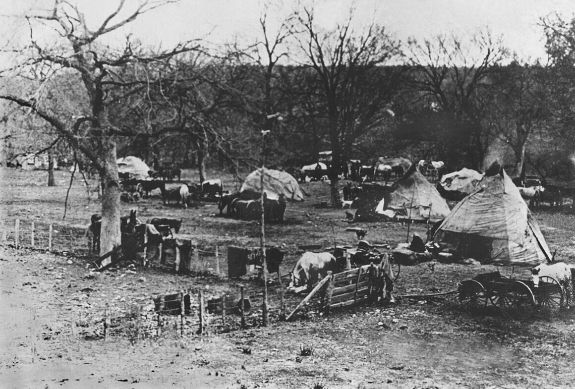 A camp on the new reservation.