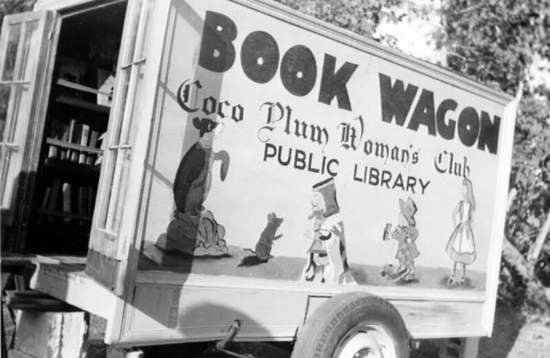 Coco Plum Woman's Club Public Library book wagon, Miami, Florida, c. 1948.