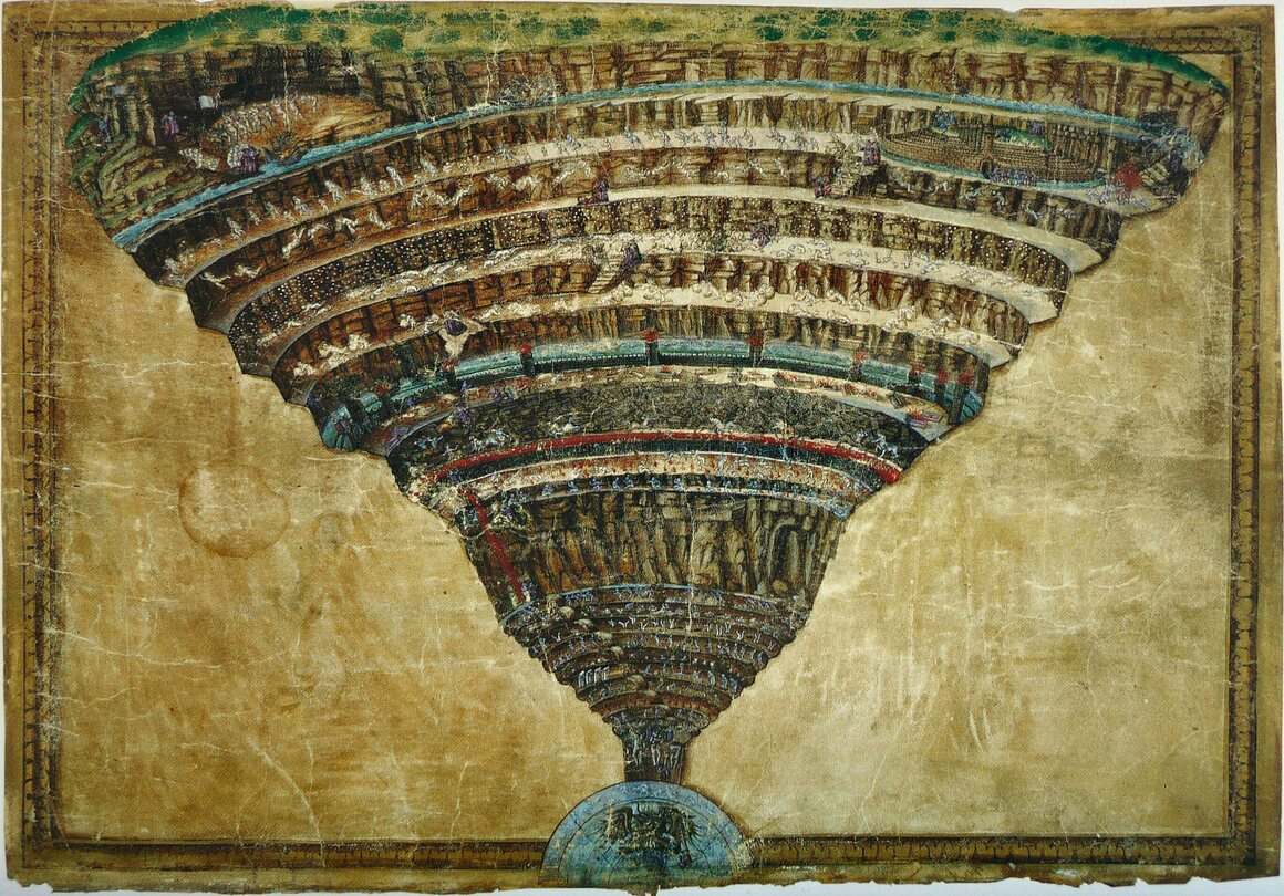 Botticelli's <em>Map of Hell</em>.