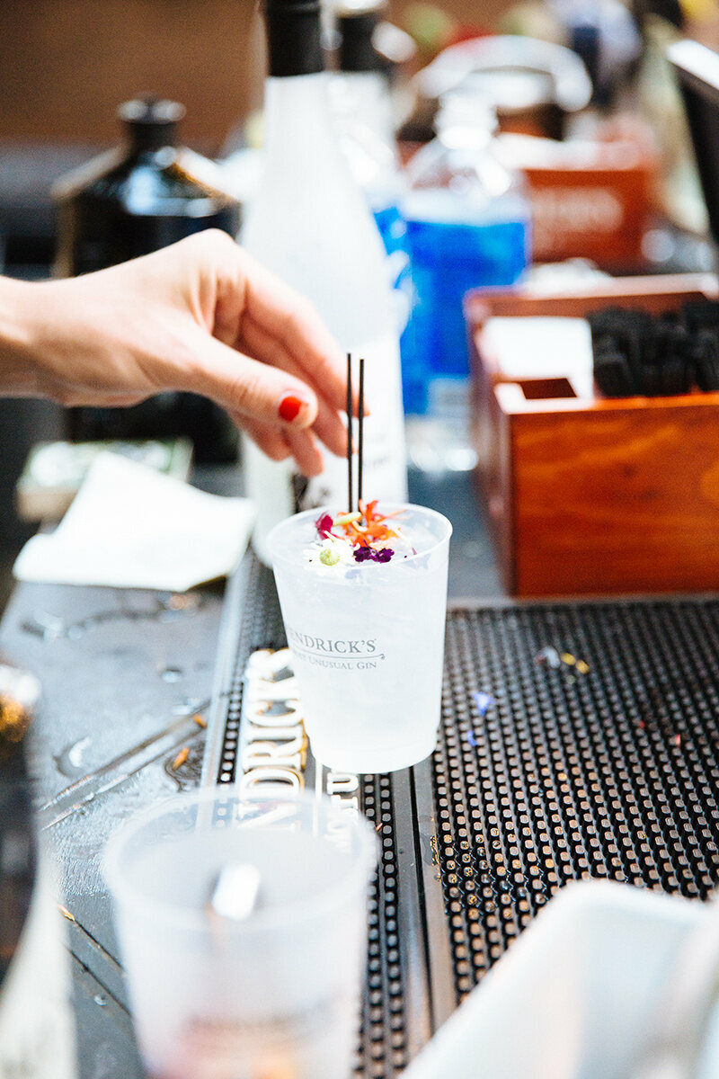 Even a classic gin and tonic came with a touch of floral whimsy.