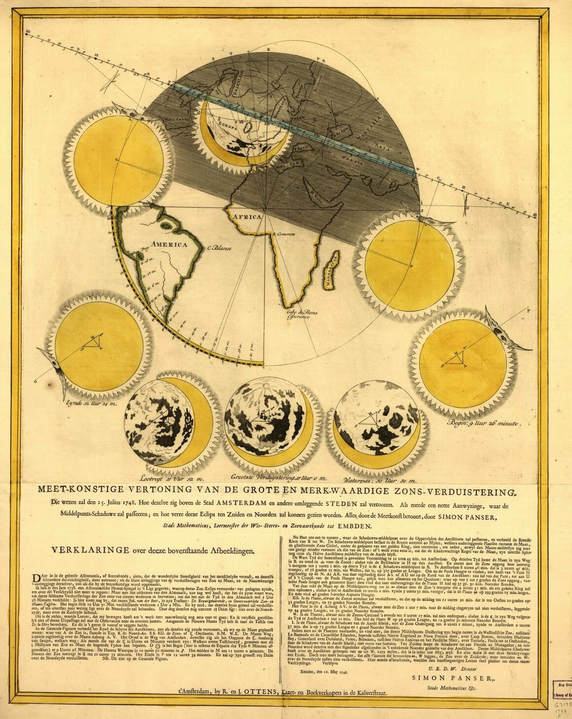 A Dutch eclipse map from 1748.