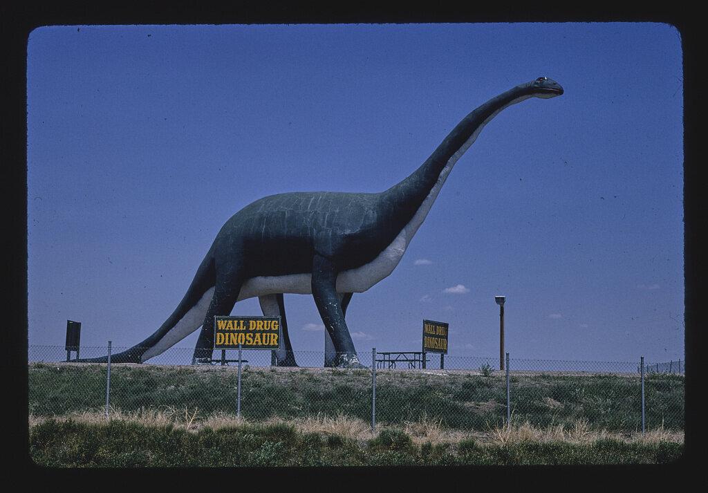 <em>Wall Drug dinosaur</em>, South Dakota, 1980.