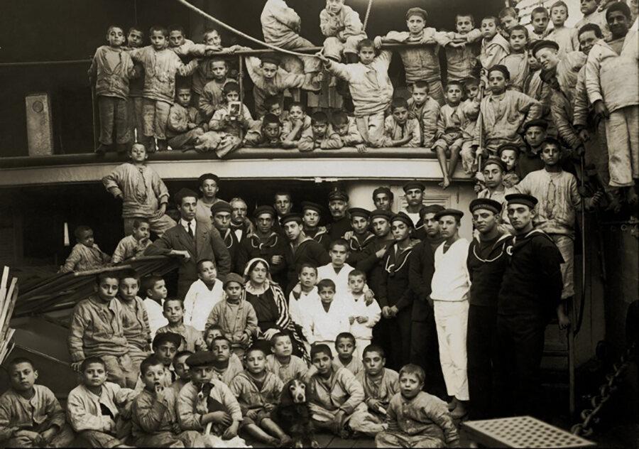 Civita with the students on <em>Caracciolo</em>.