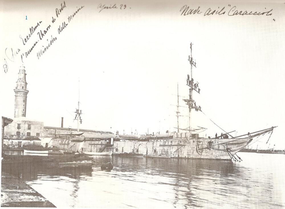 <em>Caracciolo</em> in Naples harbor.