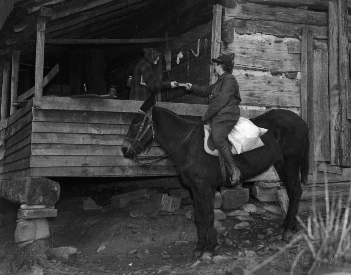 Front porch delivery, c. 1940.