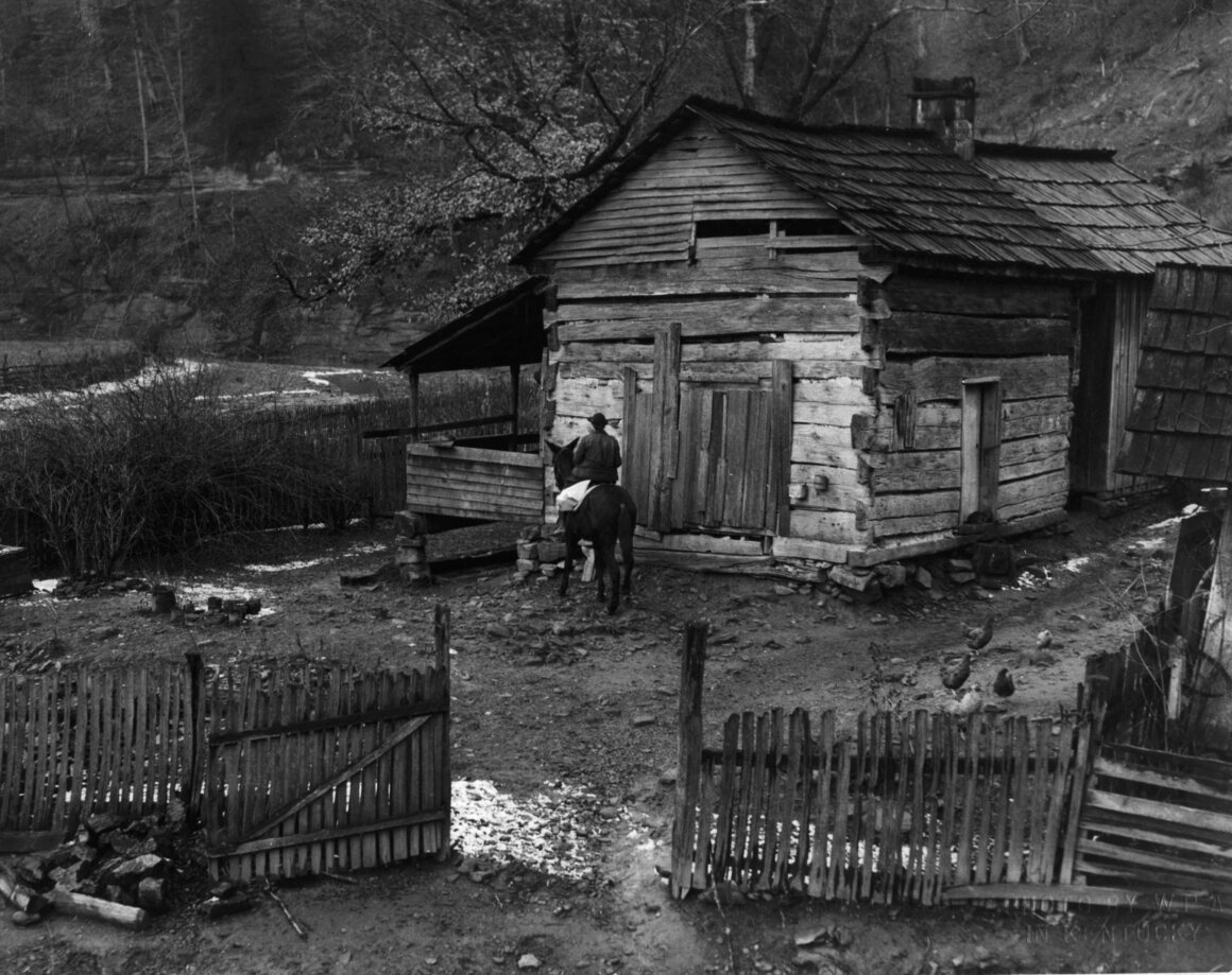 Book delivery to a remote home, 1940.
