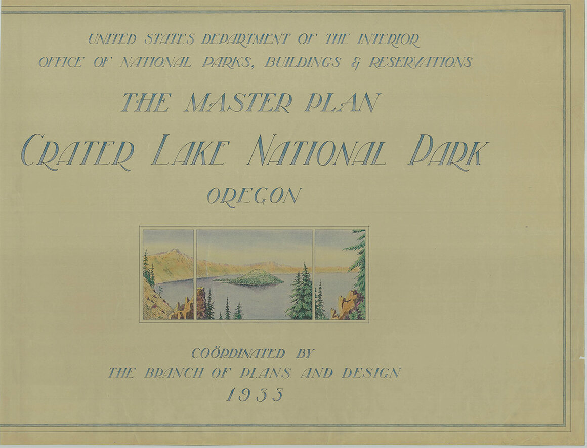 The 1935 Master Plan for Crater Lake National Park.