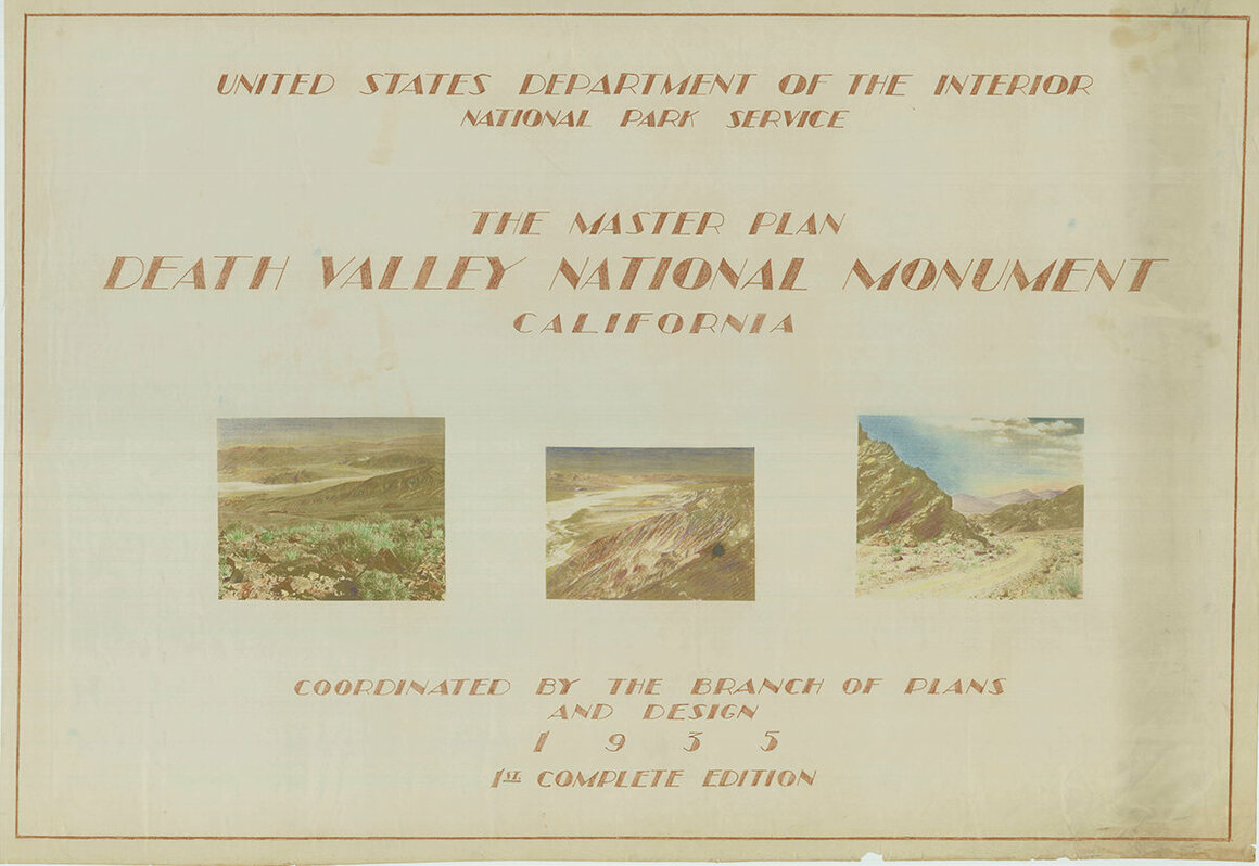 The 1935 Master Plan for Death Valley National Monument, the first complete edition.