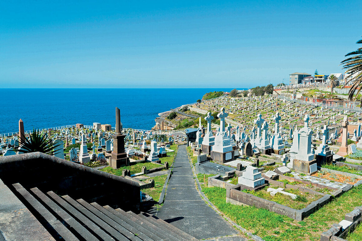 Waverley Cemetery, New South Wales, Australia, holds the graves of many notable Australians.