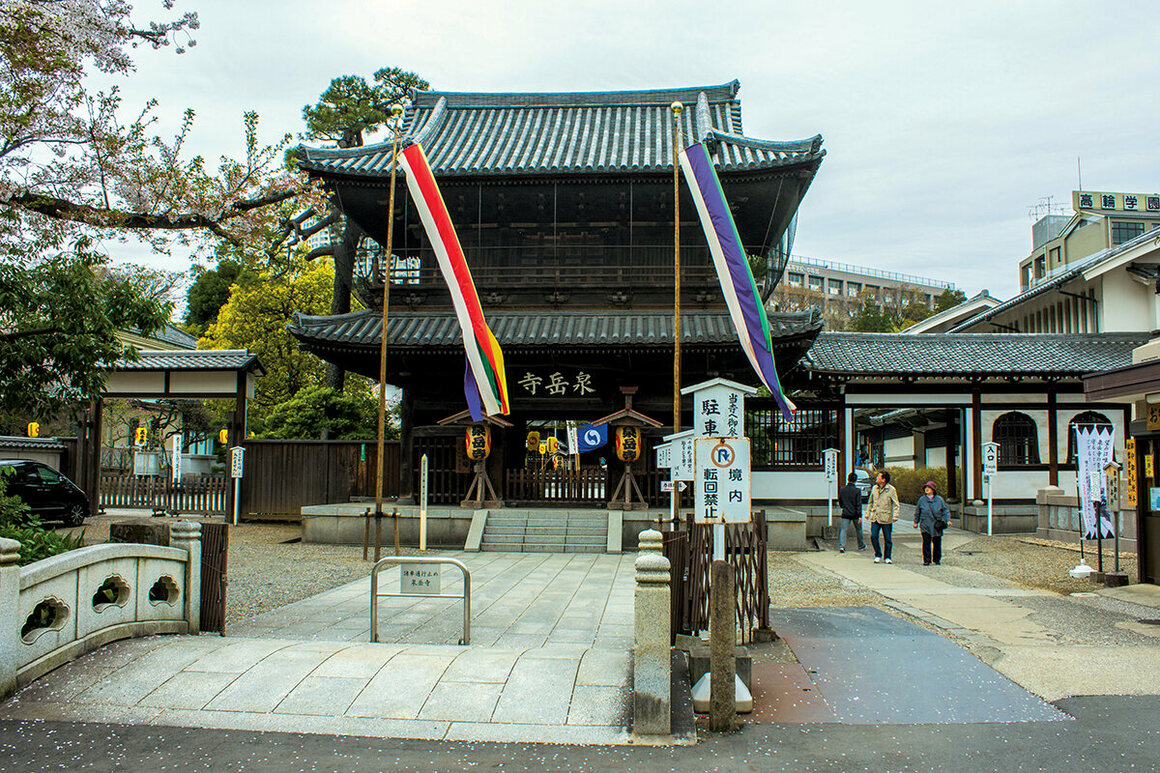 The Sengakuji Buddhist temple complex in Tokyo, Japan, is where the famous 47 Ronin are buried.