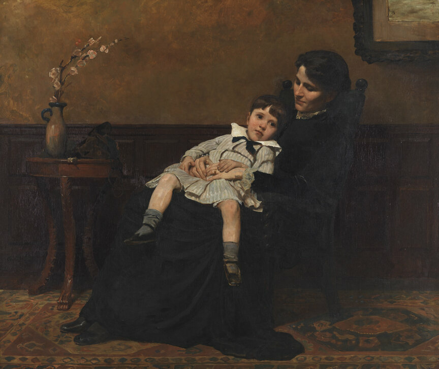 This 1885 painting by Cecilia Beaux, <em>The Last Days of Childhood</em>, shows a little boy being cuddled by his mother in the lead-up to his breeching.
