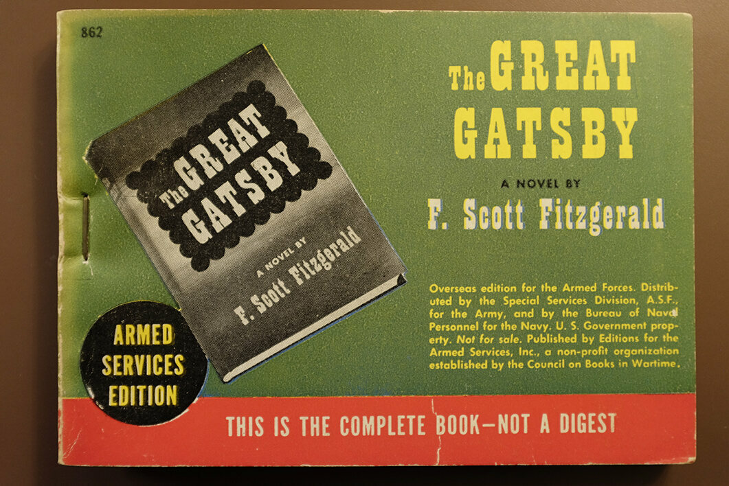 The Armed Services Edition of <em>The Great Gatsby</em>, a book given new life by this rerelease.