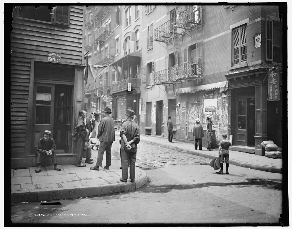 A 1900 photograph of Chinatown.