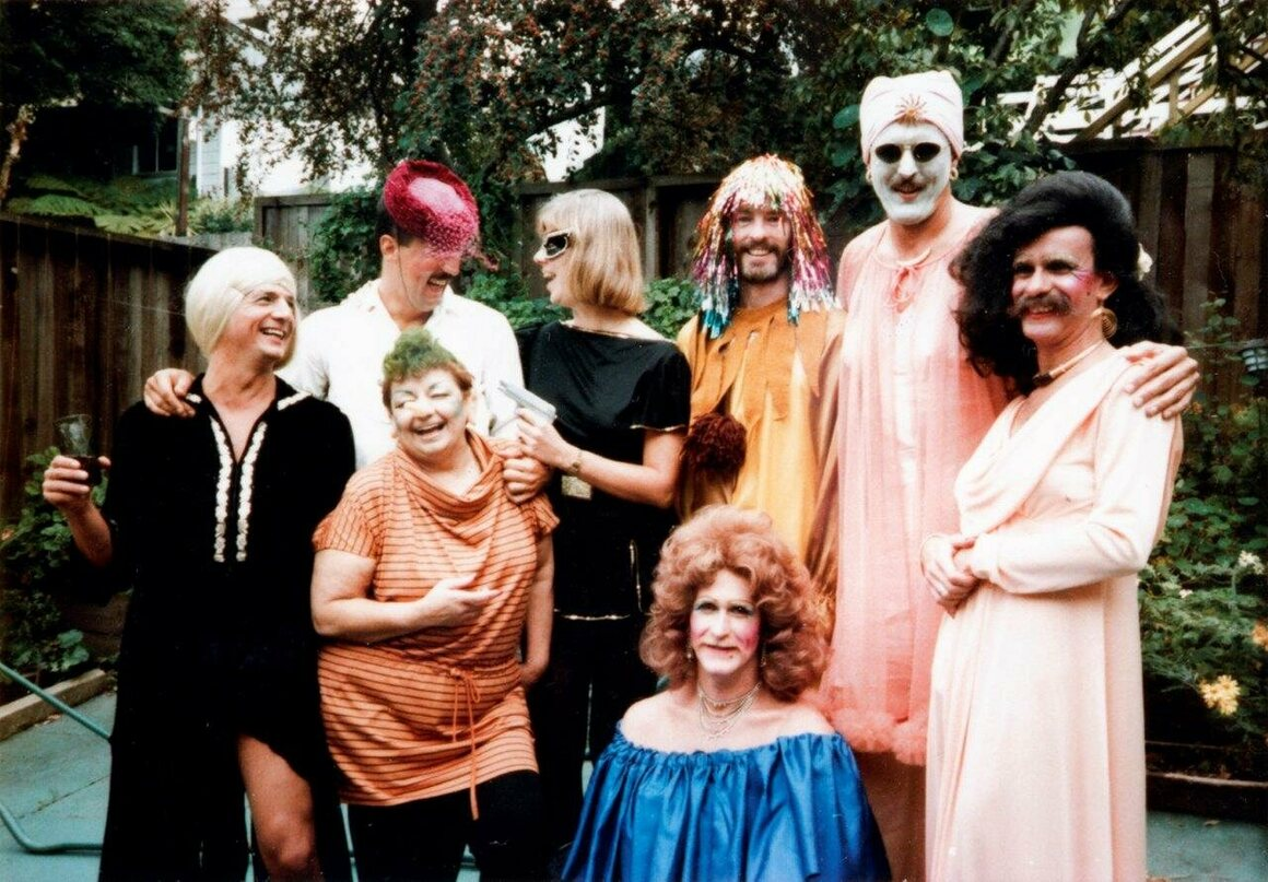 A backyard party at 20th and Collingwood Street on Halloween 1984, where guests played double pinochle and had a costume contest.