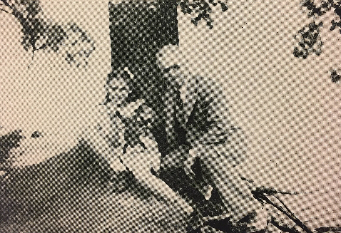 Bonnie Broel with her father, Albert.
