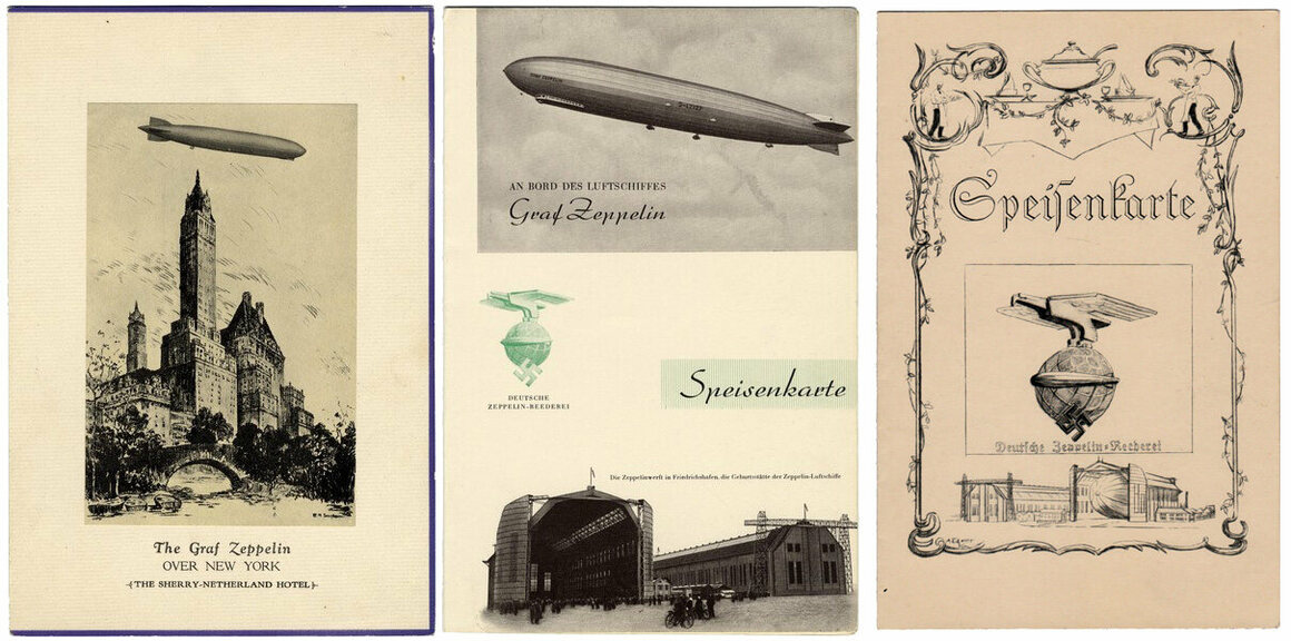 A selection of zeppelin menus.
