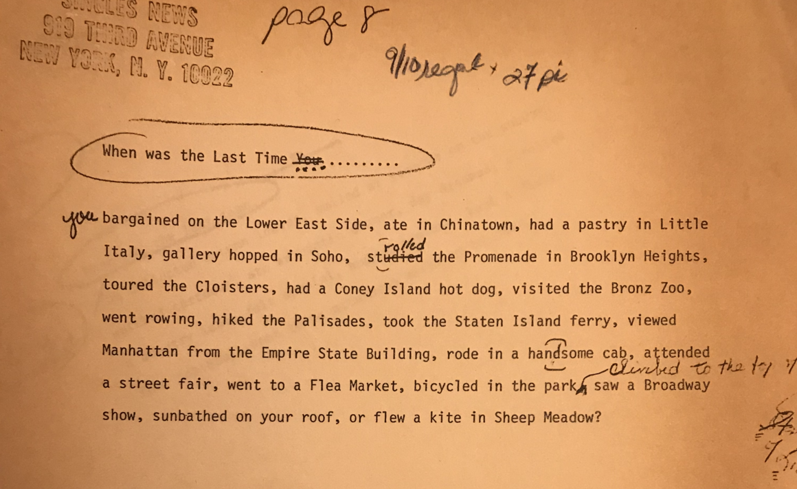 Appleberg has kept many of the original manuscripts from the paper.