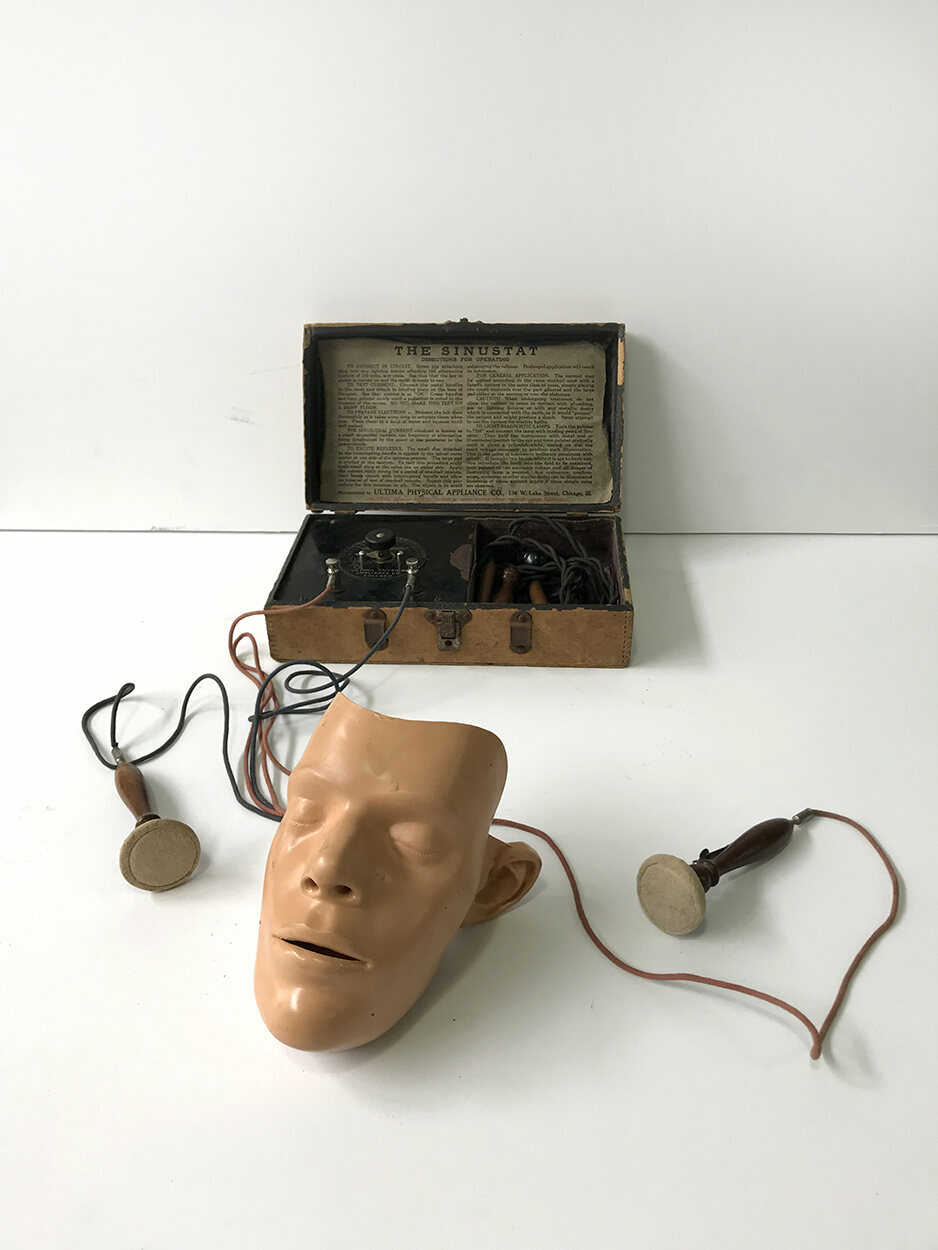 A home electroshock therapy unit, The Sinustat, from 1914.