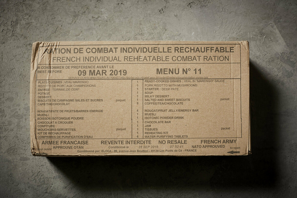 That cheese plate came out of this French MRE.