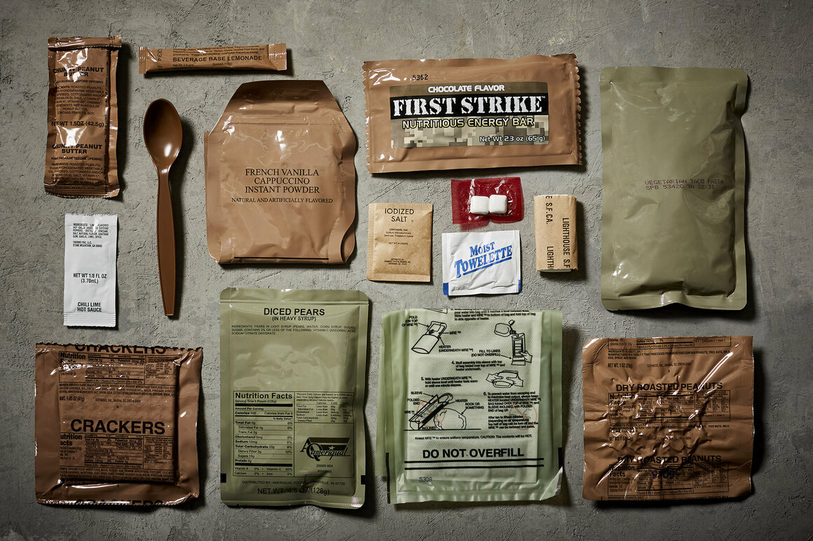 An American MRE, unboxed.