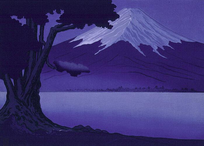 <em>Moonlight on Fujiyama</em>, printed 1928.
