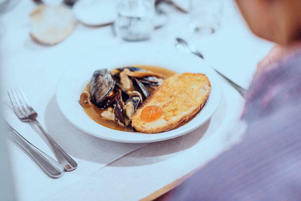 Mussels, seaweed, and shrimp paste make a hopeful soup.