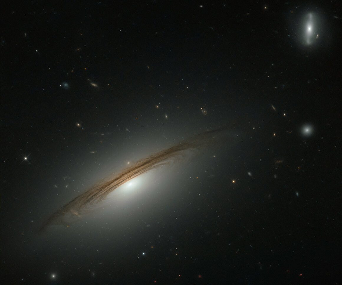A Hubble image of Galaxy UGC 12591, just under 400 million light years away.