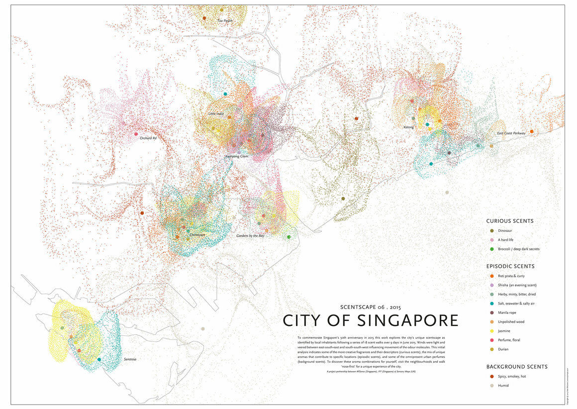 Can you guess which scents make up the smellscape of Singapore?