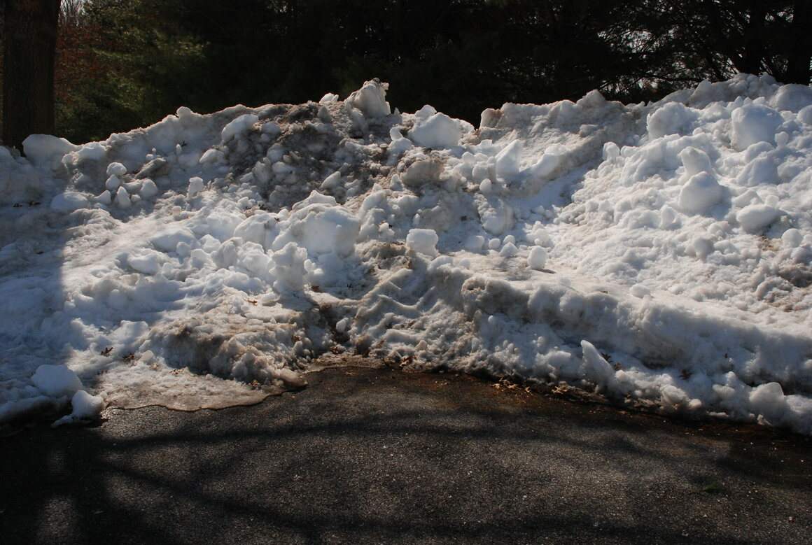 The snowbank that started it all.