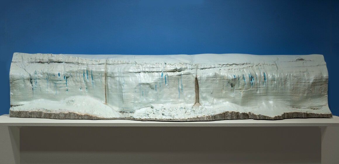 Another sculpture of the Canada Glacier, this time as viewed from the Lake Hoare side. This one is four and a half feet long.