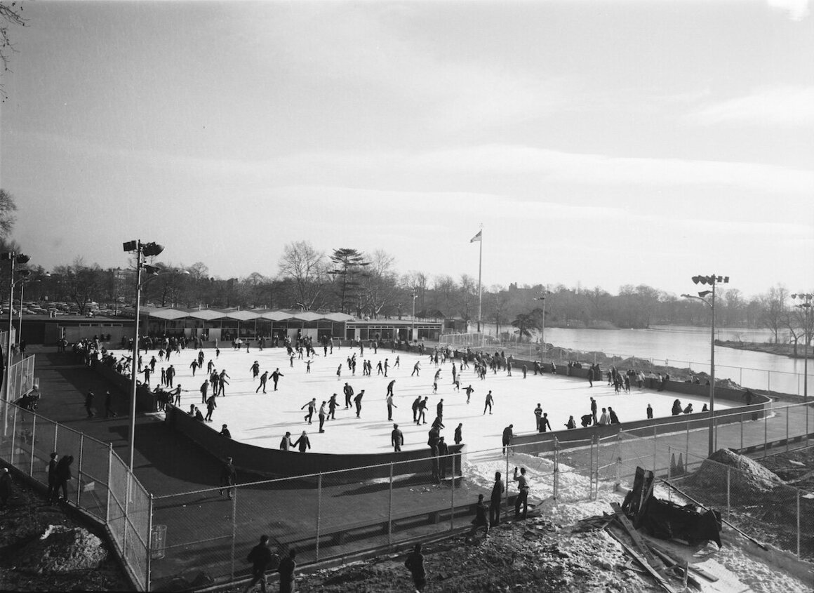 Kate Wollman Memorial Rink at Prospect Park, 1961.