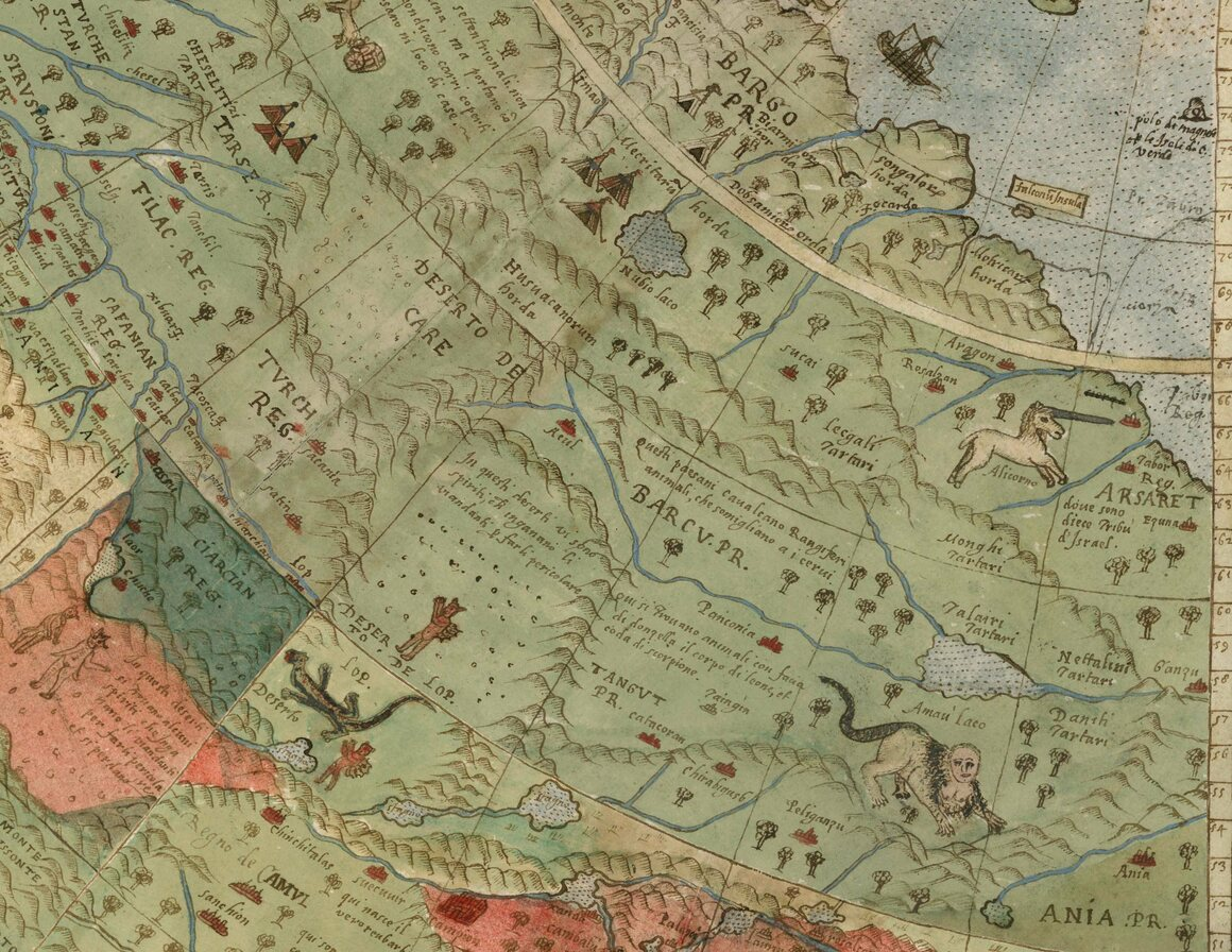 A Vast 430 Year Old World Map Full Of Places And Creatures Real