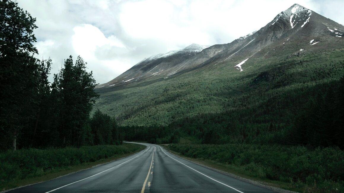 A road in Valdes, Alaska.