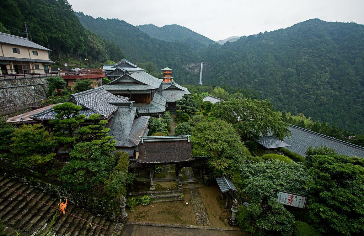 The Kumano Nachi Taisha Grand Shrine complex is the largest found throughout the Kumano Kodo pilgrimage route.