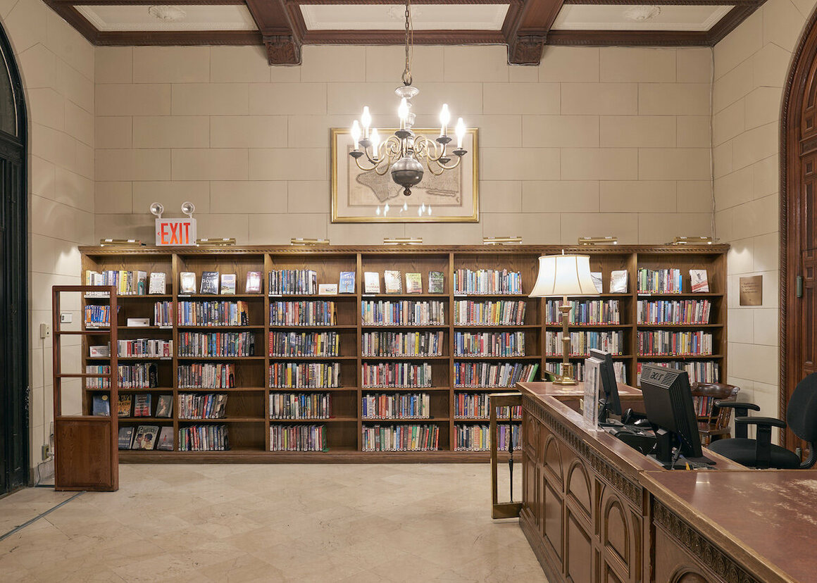 The Lobby shelves display a selection of popular titles purchased during the last 12 months.