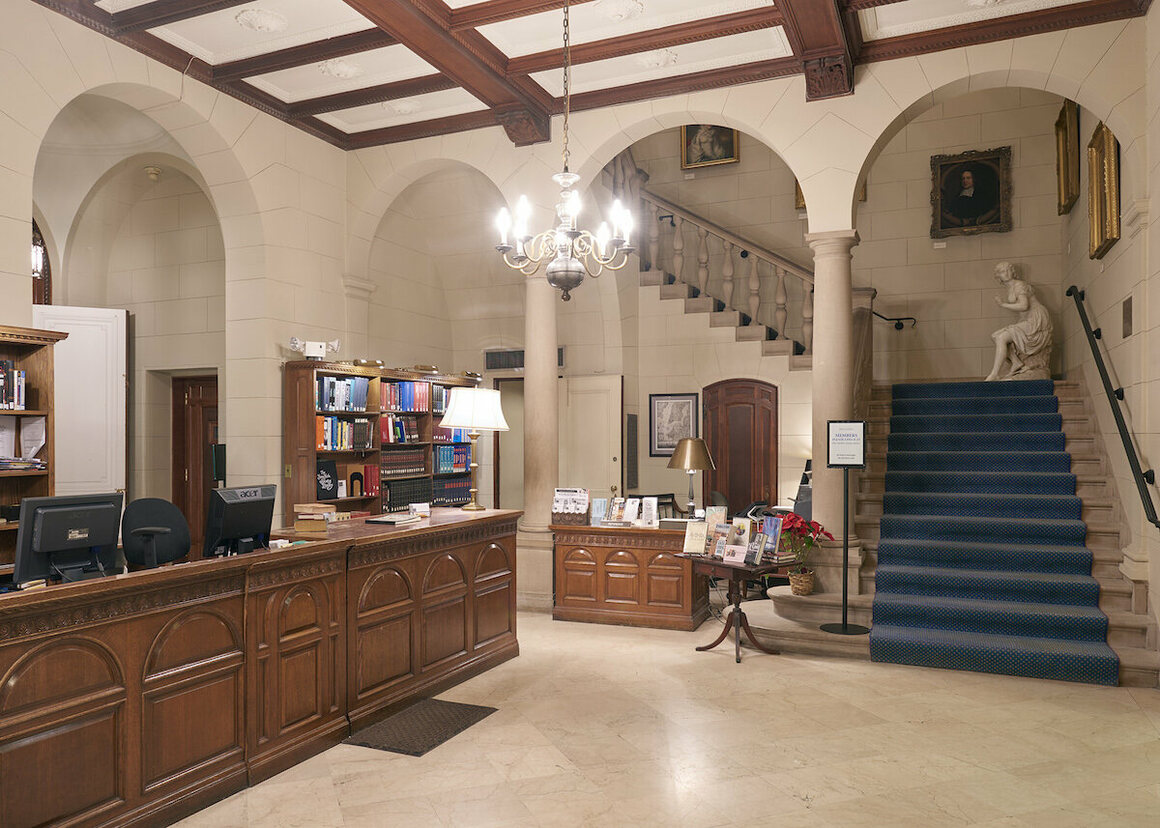 The Reference Desk at the library.