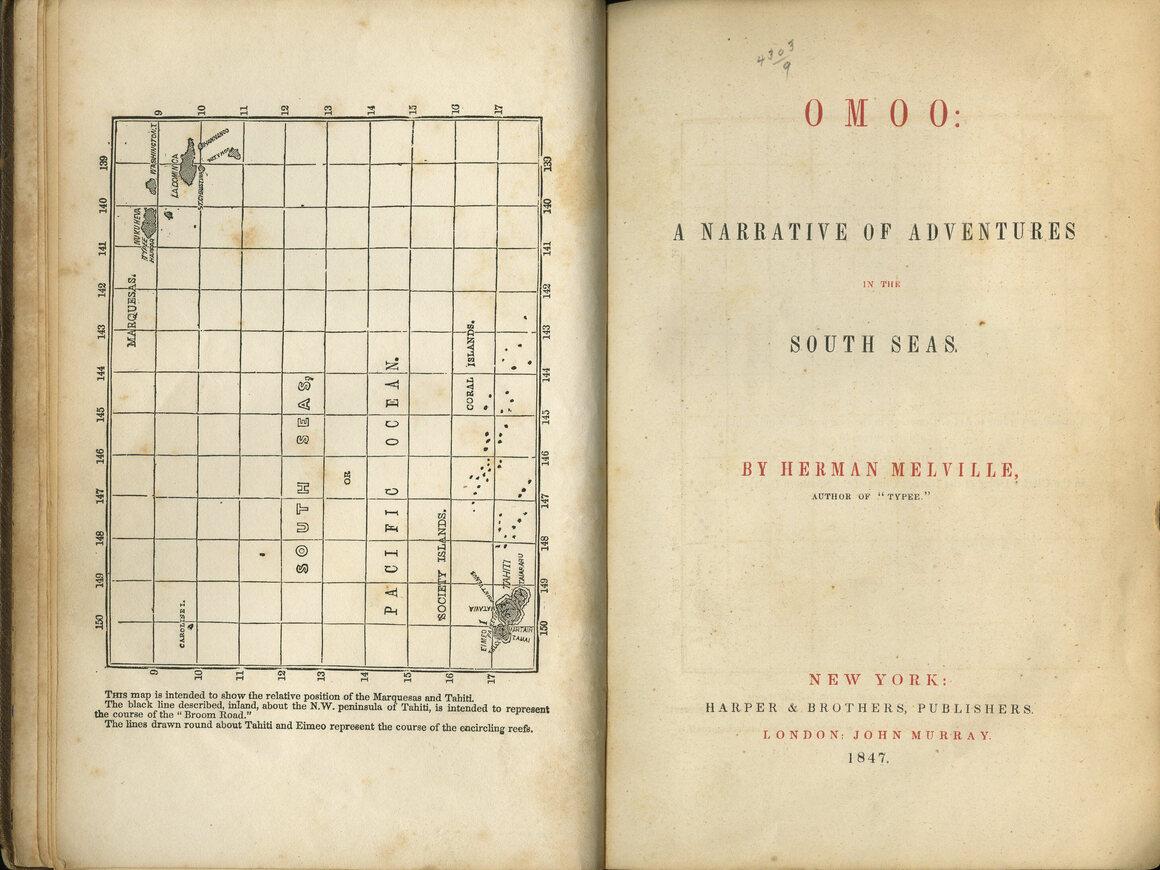 <em>Omoo: A Narrative of Adventures in the South Seas</em>, Herman Melville, London, 1847.
