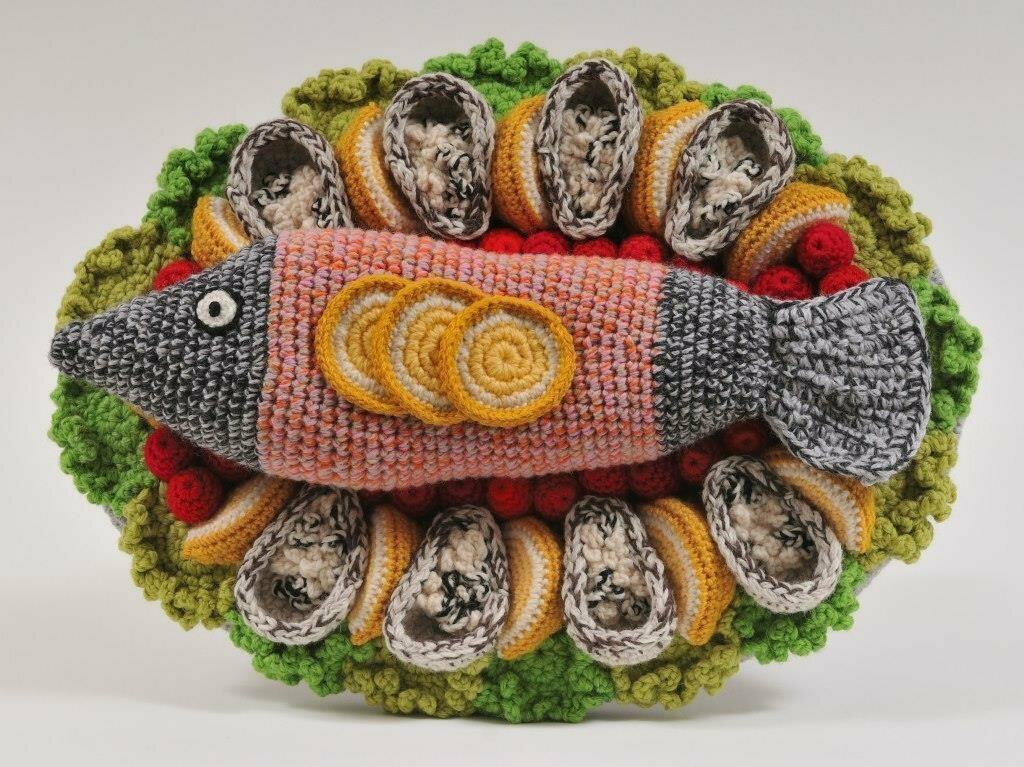 Too bad this whole garnished fish isn't edible.