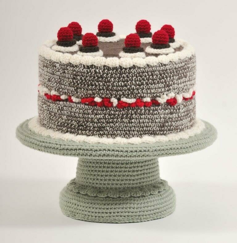 An elegant black forest cake.