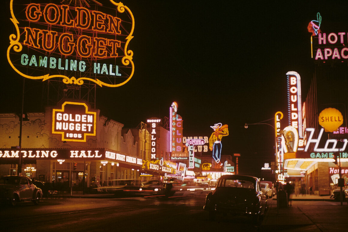 Fremont Street in the 1950s.